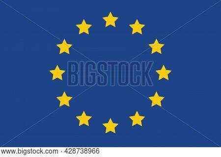 Eu Flag Of Europe Vector, European Union National Flag Natural Color, European Union Flag Original S