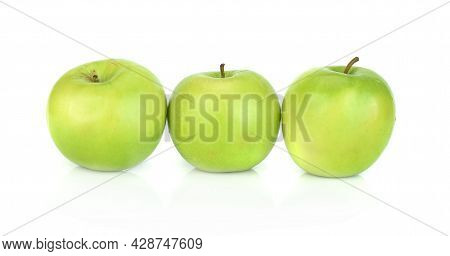 Green Apple Isolated On A White Background