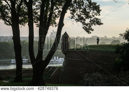 Belgrade, Serbia - July 28, 2014: Selective Blur On Tourists And Local People Over The Panorama Of T