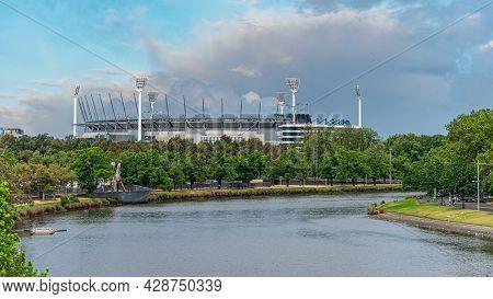 Melbourne, Victoria / Australia - 11/06/2019 The Melbourne Cricket Ground, Also Known Simply As \