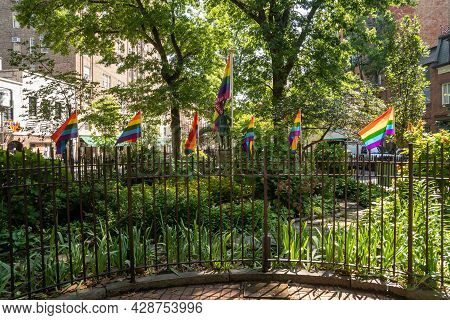 New York, Ny - Usa - July 30, 2011: A View Of Stonewall National Monument, In Christopher Park, Part