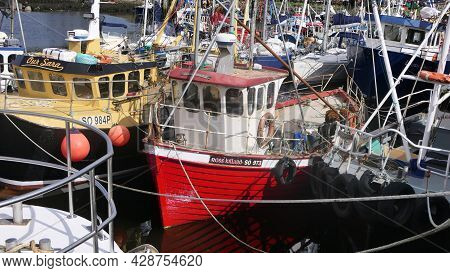 Fishing Boats And Equipment At Redcastle Harbour Co Donegal