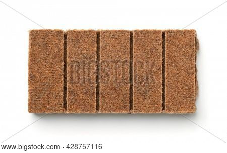Top view of kindling briquettes isolated on white