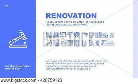 Shop Equipment Device Landing Web Page Header Banner Template Vector. Shop Portable Cash Register An