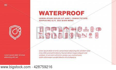 Laundry Service Tool Landing Web Page Header Banner Template Vector. Laundry And Drying Machine, Dir