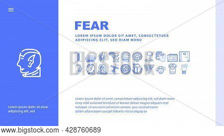 Fracture Accident Landing Web Page Header Banner Template Vector. Bone And Hand, Leg And Skull Fract