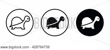 Turtle Icon Vector, Filled Flat Sign, Solid Pictogram Isolated On White.
