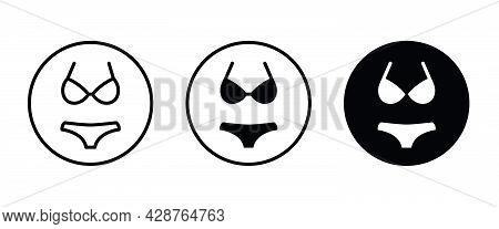 Womens Underwear Icon Logo Design Vector Template, Fashion Icon