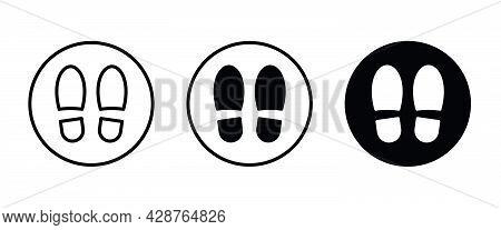 Foot Icon, Shoe Icons Button, Vector, Sign, Symbol, Logo, Illustration, Editable Stroke, Flat Design