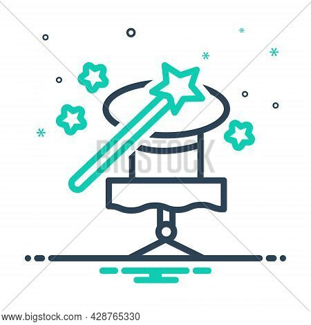Mix Icon For Magic-trick Magic Trick Fascination Spell Charm Enchantment Magician Wizards Stick Mira