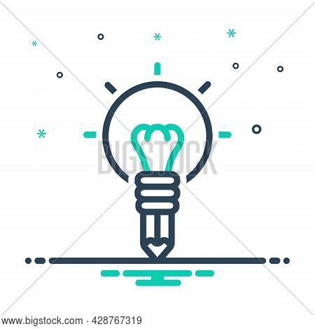 Mix Icon For Creativity Cleverness Genius Imagination Ingenuity Inspiration Originality Talent Doodl