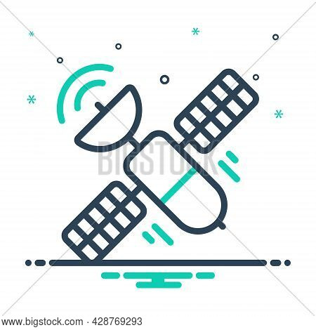 Mix Icon For Satellite Tower Antenna Broadcast Cellular Connection Transmitter Wireless Network Mobi