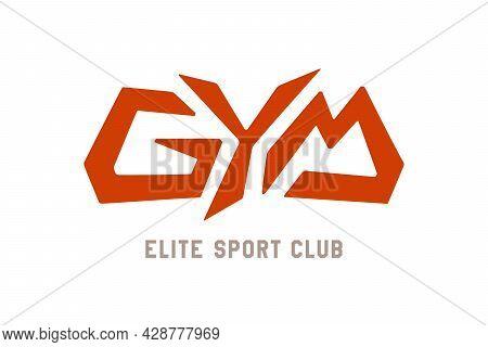Gym Vector Inscription. Unique Original Handwritten Lettering