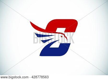 Initial C Monogram Letter Alphabet With Eagle Head Negative Space Symbol. Creative Eagle Head Vector