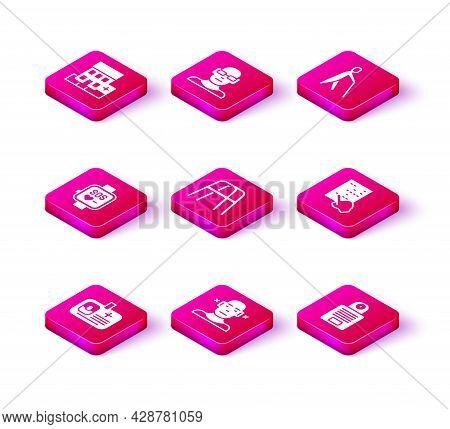 Set Identification Badge, Deaf, Smart Watch, Walker, Intercom, Braille, Blind Human Holding Stick An