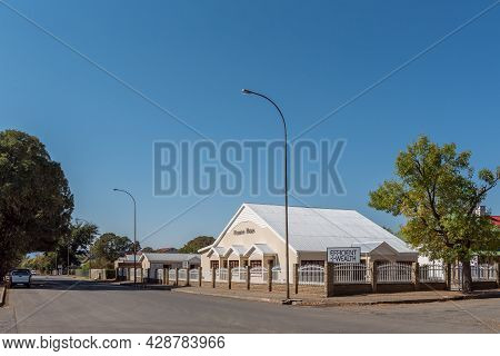 Aliwal North, South Africa - April 23, 2021: A Street Scene, With A Financial Business, In Aliwal No