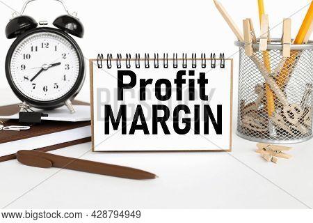 Profit Margin. Text On White Paper On White Background