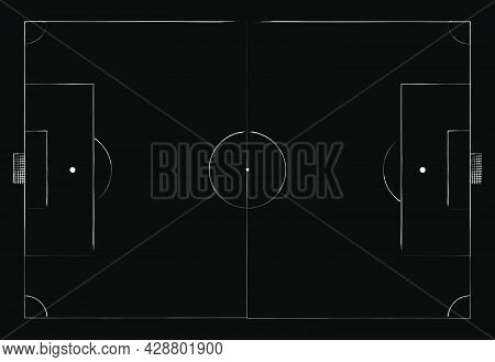 Soccer Field Icon. Simple Illustration Of Soccer Field Vector Icon For Web