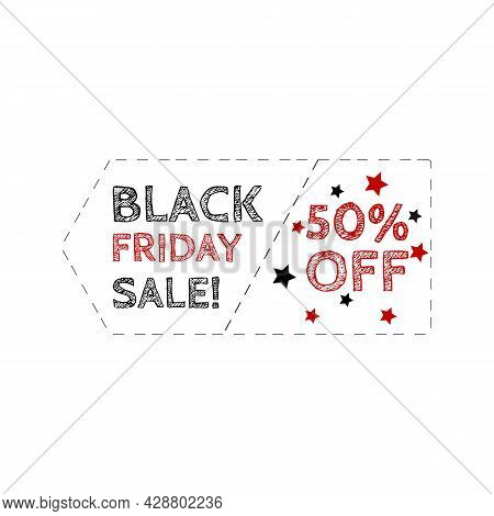 Grunge Stamp And Text Black Friday Outline Vector