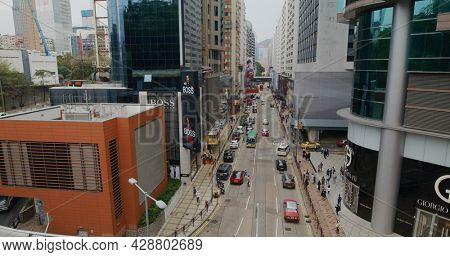 Tsim Sha Tsui, Hong Kong 17 April 2021: Canton Road in Hong Kong