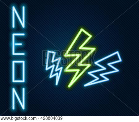 Glowing Neon Line Zeus Icon Isolated On Black Background. Greek God. God Of Lightning. Colorful Outl