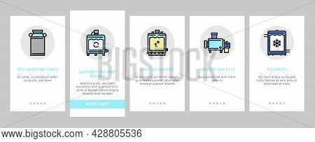 Cheese Production Onboarding Mobile App Page Screen Vector. Cheese Preparing Factory Industrial Equi