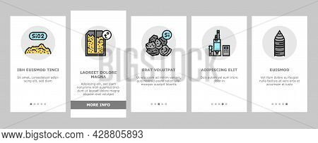 Semiconductor Manufacturing Plant Onboarding Mobile App Page Screen Vector. Installation Semiconduct