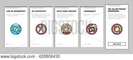Dry Skin Treatment Onboarding Mobile App Page Screen Vector. Elbow, Face And Hand Dry Skin Treat Cre