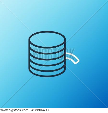 Line Plastic Filament For 3d Printing Icon Isolated On Blue Background. Colorful Outline Concept. Ve