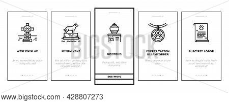 Pet Funeral Cemetery Onboarding Mobile App Page Screen Vector. Pet Funeral Ceremony And Prayer, Indi