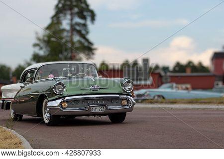 Rattvik, Sweden - July 27.2013: Classic Car Week Rttvik - Oldsmobile Super 88 1957r