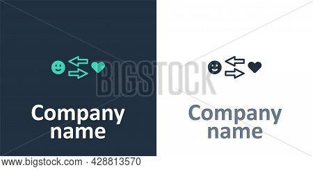 Logotype Romantic Relationship Icon Isolated On White Background. Romantic Relationship Or Pleasant