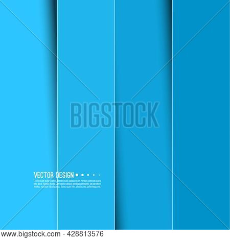 Abstract Background With Rectangular Vertical Stripes With Shadow. Vector Illustrations For Covers A