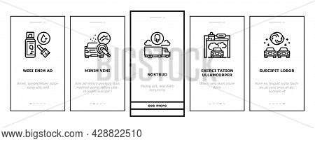Car Painting Service Onboarding Mobile App Page Screen Vector. Car Painting And Fixing, Plastic Bump