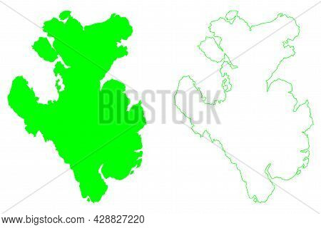 Prince Of Wales Island (canada, Nunavut Province, North America, Canadian Arctic Archipelago) Map Ve