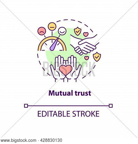 Mutual Trust Concept Icon. Honest Communication. Friendship And Understanding In Relationship Abstra