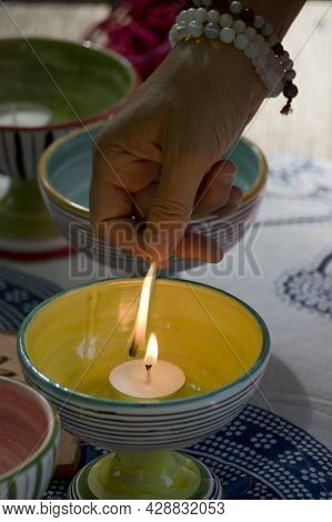 Ceramic Cups Sacred Alchemical Altar, Fire Element