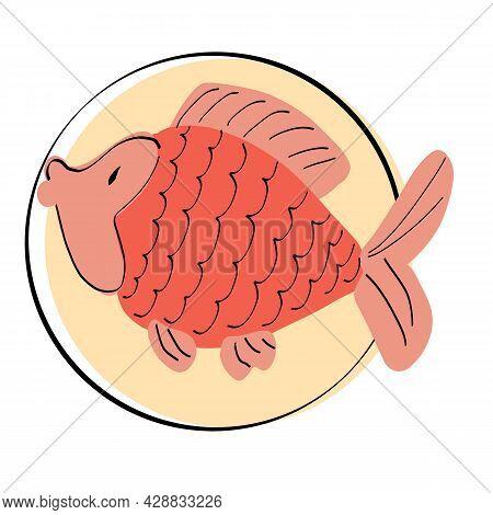 Sea Background - Cute Sea And Ocean Animals. Ocean Wildlife. Cute Illustration.vector Collection