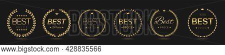 Best Price Golden Laurel Wreath Label Set