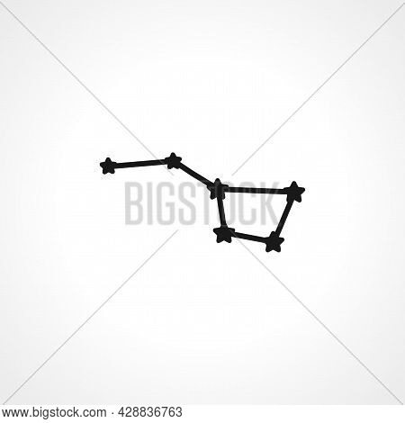 Constellation Ursa Major, Big Dipper Icon. Big Dipper Simple Vector Icon. Constellation Ursa Major I