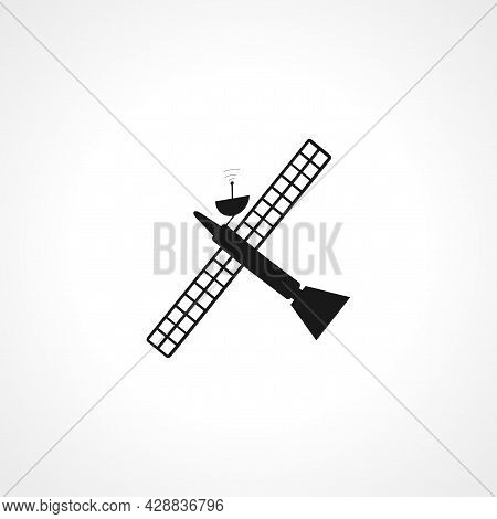 Satellite Icon. Satellite Simple Vector Icon. Satellite Isolated Icon.