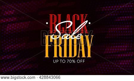 Black Friday Sale With Price Reduction Up To 70 Percent. Discount Web Banner Template Offer Seasonal