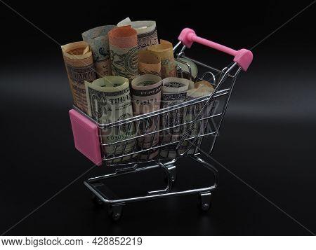 Money In A Mini Cart.