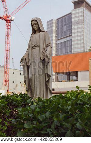 Statue Of Saint Mary At Saint Mary's Cathedral, Winnipeg, Manitoba, Canada