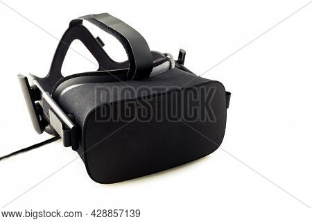 VR headset - virtual reality glasses for simulation of reality for different multimedia, isolated on white background
