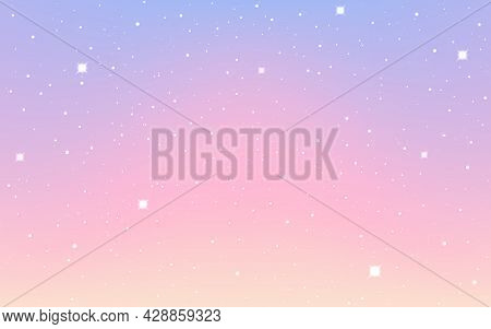 Space Background. Beautiful Cosmos Wallpaper. Magic Starry Cosmos. Colorful Nebula With Stars. Shiny
