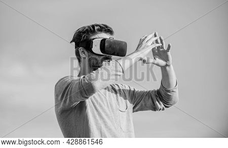 Augmented Reality. Gamer Concept. Modern Technology. Digital Future And Innovation. Cyber Space. Vir
