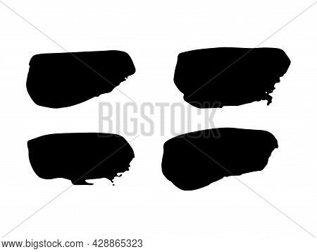 Paint Stains Brush Stroke Backgrounds Set. Dirty Artistic Vector Design Elements For Text, Labels, L