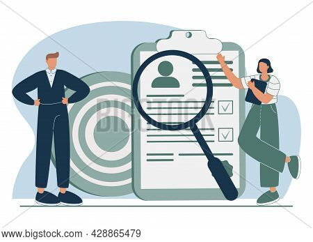 Hr And Headhunter Service Abstract Concept Vector Illustration Set. Human Resources, Candidates, Per