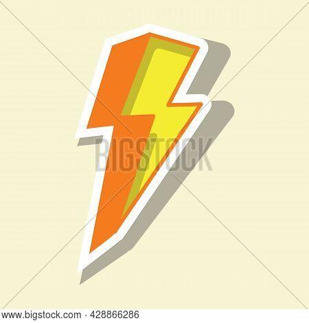 Thunderstorm Vector Illustration. Thunderbolt, Lightning Strike Icon